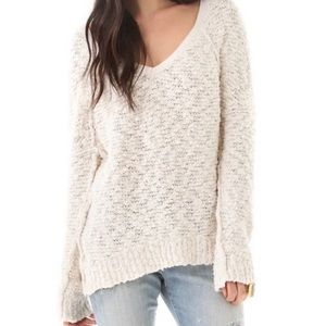 Free People songbird boucle v-neck sweater…